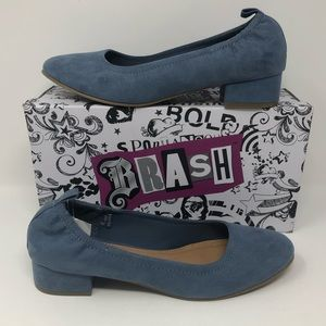 Abby Scrunch Long Vamp Heel light blue size 10